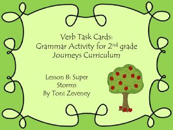 Verb Task Cards for Journeys Grade 2