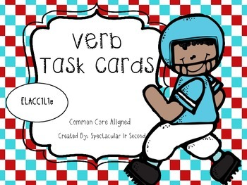 Verb Task Cards or Scoot Game