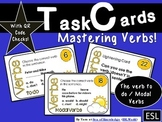 Modal Verbs Task Cards - Verb To Do 24 cards + QR Code Check