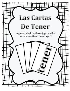 Verb Tener Card Game