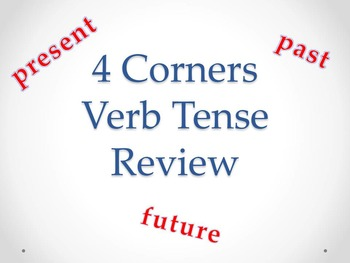 Verb Tense 4 Corners Game