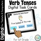 Verb Tense Activities: First Grade Digital Task Cards for Grammar Practice