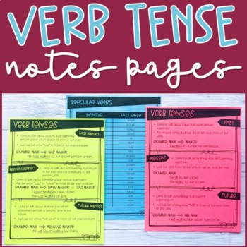 Verb Tense Bundle
