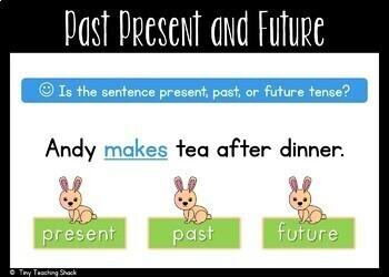 Verb Tense Boom Cards