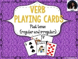 Verb Tense Playing Cards : Game Irregular and Regular Verb