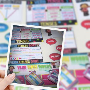 Verbs: Verb Tense Center Activities (Past, Present, Future)