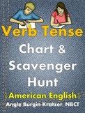 Verb Tense Chart & Scavenger Hunt {Regular Verbs, American