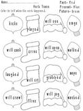 Verb Tense Christmas Theme Activity