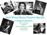 Verb Tense Conjugation Practice with Music Bundle
