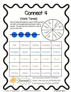 Verb Tense Connect 4