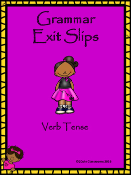 Verb Tense Exit Slips for Middle School