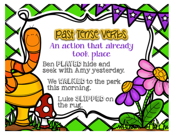 Verb Tense Task Cards Hunt and Sort and Activities