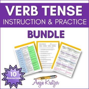 Verb Tense Instruction & Practice BUNDLE