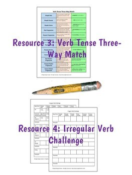 Verb Tense Instruction & Practice BUNDLE