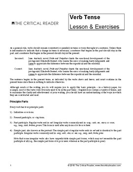 Verb Tense: Lessons + 3 Exercises