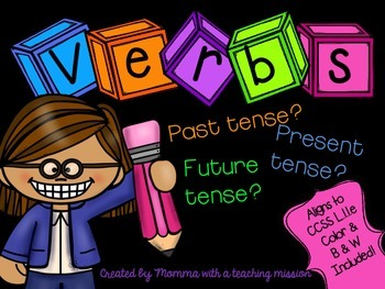Verb Tense Literacy Center L.1.1