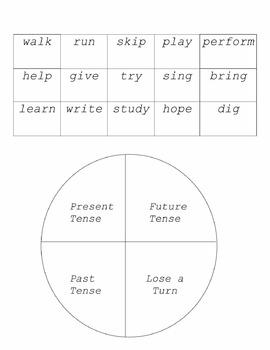 Verb Tense (Past, Present, Future) Game