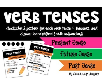 Verb Tense Posters and Practice Sheets