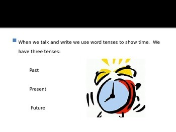 Verb Tense Power Point