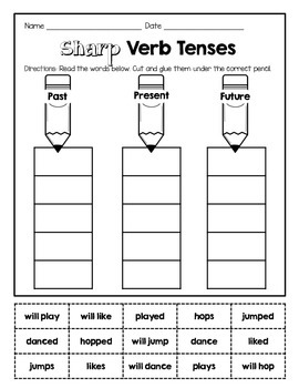 Verb Tense Practice (Past, Present, Future)