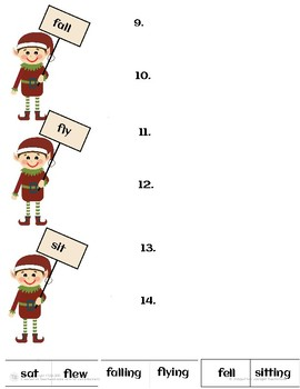 Verb Tense Practice With Elves