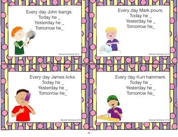 Verb Tense Practice for ELA  and Speech Therapy