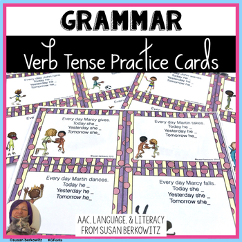 Verb Tense Practice for ELA  and Speech Language