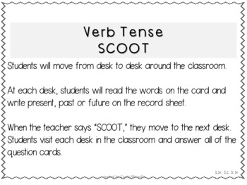Verb Tense SCOOT Game