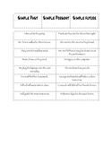 Verb Tense SORTs (4 total)  - Middle Grades