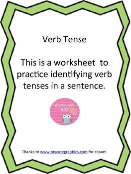 Verb Tense Sentences