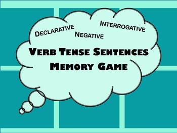 Verb Tense Sentences Memory Game