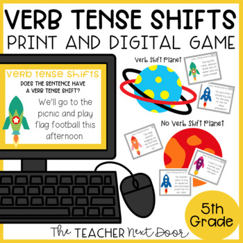 Verb Tense Shifts Game | Verb Tense Shifts Center | Verb Tense Shifts Activities