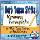 Verb Tense Shifts Paragraph Revising Worksheets w/ Digital