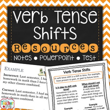 Verb Tense Shifts By One Stop Teacher Shop Teachers Pay