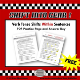 Verb Tense Shifts Within Sentences:  Worksheet
