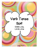Verb Tense Sort CCSS Aligned L.1.1e, L.2.1d, L.3.1e