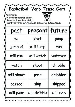 Verb Tense Sorts and Practice Sheets