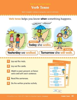 Verb Tense (Take It to Your Seat Centers: Common Core Language)