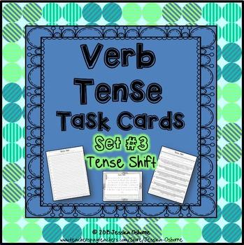 Verb Tense Task Cards: Tense Shift
