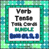 Verb Tense Task Cards Bundle: 70 multi-level task cards & worksheets
