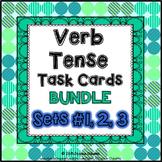 Verb Tense Task Cards Bundle: 70 multi-level task cards &