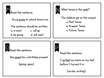 Verb Tense Task Cards VA SOL 2.13j