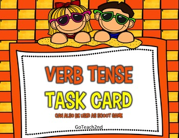 Verb Tense Task Cards or Scoot Game