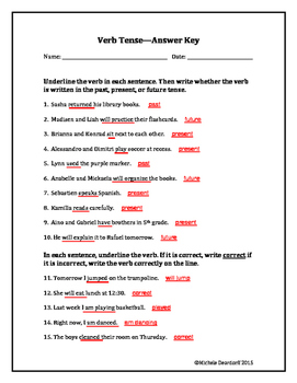 Verb Tense: Test Your Skills!
