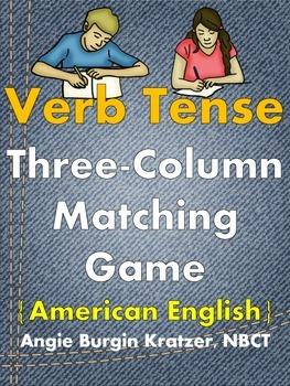 Verb Tense Three-Column Matching Game