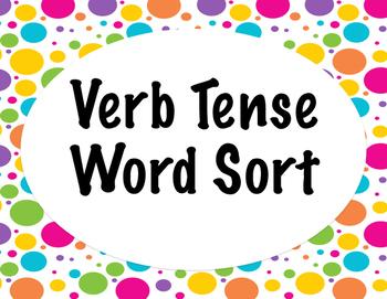 Verb Tense Word Sort BUNDLE Grades 3-6  {Differentiated} + Seat work