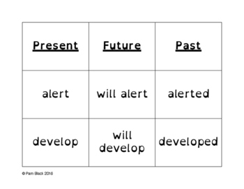 Verb Tense Word Sort Grades 5-6  {Differentiated} + Seat work