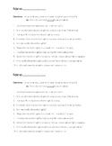 Verb Tense Word Study Assessment