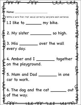 Verb Tense- adding -s