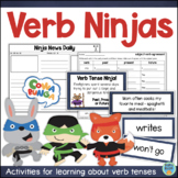 Verbs and Verb Tenses Worksheets & Activities Past Present Future Tense